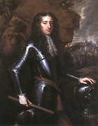 William III (1650-1702) from 1672 Stadtholder William III of Orange, from 1689 William III of England and Ireland and William II of Scotland. Portrait after original of 1677 by Peter Lely. Armour Helmet War Battle Protestant