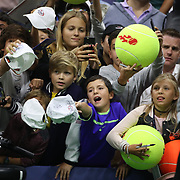 2017 U.S. Open Tennis Tournament - DAY TWO. Young fans jostle for an autograph from Rafael Nadalof Spain after his victory against DusanLajovic of Serbia during the Men's Singles round one match at the US Open Tennis Tournament at the USTA Billie Jean King National Tennis Center on August 29, 2017 in Flushing, Queens, New York City.  (Photo by Tim Clayton/Corbis via Getty Images)