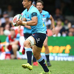 DURBAN, SOUTH AFRICA - MARCH 03: Lalakai Foketi of the Waratahs during the Super Rugby match between Cell C Sharks and Waratahs  at Kings Park on March 03, 2018 in Durban, South Africa. (Photo by Steve Haag/Gallo Images)