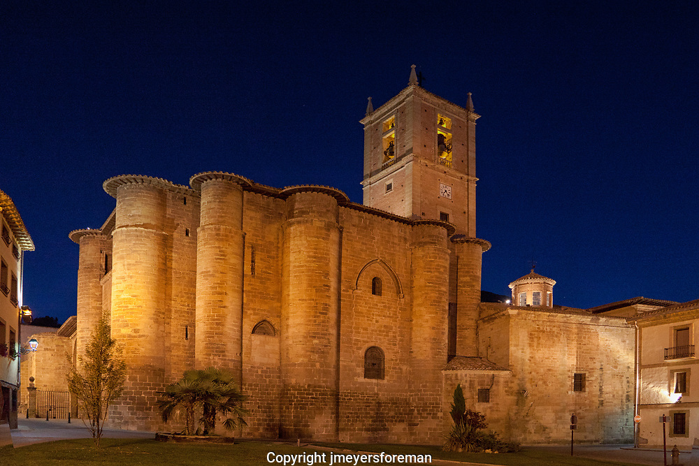 the Monasterio de Santa Maria de Real at sunrise