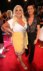Vanessa Feltz with dance partner at the launch of the new series of Strictly Come Dancing, in London, United Kingdon, Tuesday, 3rd September 2013. Picture by Stephen Lock / i-Images