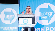 Brexit Party event<br /> Nigel Farage and Ann Widdecombe in Peterborough for a rally with the Brexit Party&rsquo;s Eastern region European election candidates. <br /> at King's Gate Conference Centre, Peterborough, Great Britain <br /> 7th May 2019 <br /> <br /> <br /> June Mummery<br /> <br /> <br /> Photograph by Elliott Franks