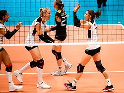 16.05.2019, Montreux, SUI, Montreux Volley Masters 2019, Deutschland vs Polen, im Bild Louisa Lippmann (Germany #11) und Lena Stigrot (Germany #10) // during the Montreux Volley Masters match between Germany and Poland in Montreux, Switzerland on 2019/05/16. EXPA Pictures © 2019, PhotoCredit: EXPA/ Eibner-Pressefoto/ beautiful sports/Schiller<br /> <br /> *****ATTENTION - OUT of GER*****