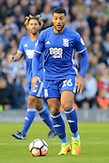 Birmingham City midfielder David Davis (26) during the The FA Cup 3rd round match between Birmingham City and Newcastle United at St Andrews, Birmingham, England on 7 January 2017. Photo by Alan Franklin.