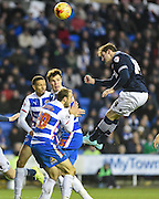Dorian Dervite heads towards goal during the Sky Bet Championship match between Reading and Bolton Wanderers at the Madejski Stadium, Reading, England on 6 December 2014.