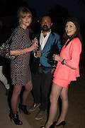SOPHIE DAHL; EVGENY LEBEDEV, Serpentine's Summer party co-hosted with Christopher Kane. 15th Serpentine Pavilion designed by Spanish architects Selgascano. Kensington Gardens. London. 2 July 2015.