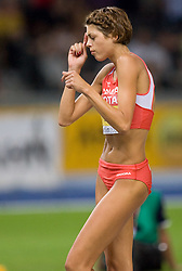 Blanka Vlasic of Croatia dance after she jumped 2.06 in the women's High Jump Final during day six of the 12th IAAF World Athletics Championships at the Olympic Stadium on August 20, 2009 in Berlin, Germany. (Photo by Vid Ponikvar / Sportida)