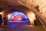 Kunst im Weinkeller, Weingut Georg Müller Stiftung, Hattenheim, Rheingau, Hessen, Deutschland.|.wine cellar Weingut Georg Müller Stiftung, Hattenheim, Rheingau, Hessen Germany