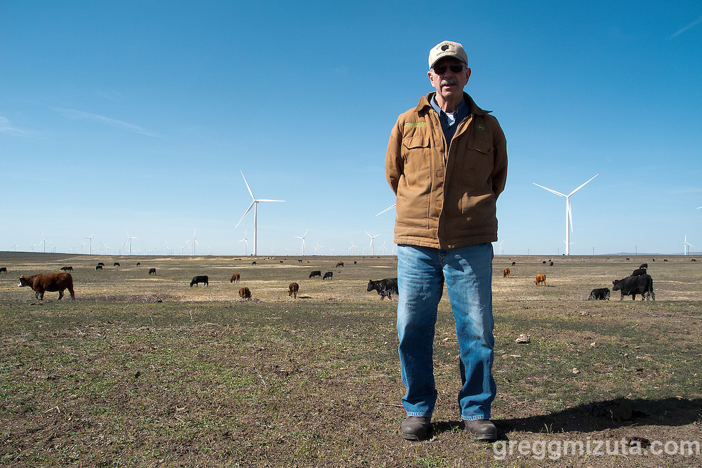 Lynn Riggs at his family's Double Anchor Ranch outside of Mountain Home, Idaho, March 5, 2015.