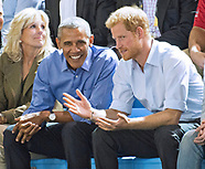President Obama & Prince Harry At Invictus Basketball