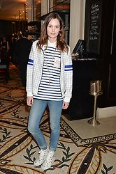 CHARLOTTE de CARLE at a dinner hosted by Amy Molyneaux and Percy Parker of fashion label PPQ to celebrate the PPQ AW 2015 collection 'Persephone' held at Braserie Chavot, 41 Conduit Street, London on 22nd February 2015.
