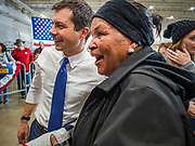 08 DECEMBER 2019 - CORALVILLE, IOWA: Mayor PETE BUTTIGIEG greets supporters on the rope line after speaking at a campaign event in Coralville, Iowa. Buttigieg, the mayor of South Bend, Indiana, is running to be the Democratic nominee for President in the 2020 election. Iowa traditionally holds the first presidential selection event of the 2020 election cycle. The Iowa Caucuses are on Feb. 3, 2020.    PHOTO BY JACK KURTZ