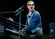 CHICAGO, IL - AUGUST 04: Andrew McMahon of Andrew McMahon in the Wilderness performs at Grant Park on August 4, 2017 in Chicago, Illinois. (Photo by Michael Hickey/Getty Images) *** Local Caption *** Andrew McMahon