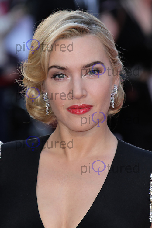 LONDON - MARCH 27: Kate Winslet attends the World Film Premiere of 'Titanic 3D' at the Royal Albert Hall, London, UK. March 27, 2012. (Photo by Richard Goldschmidt)