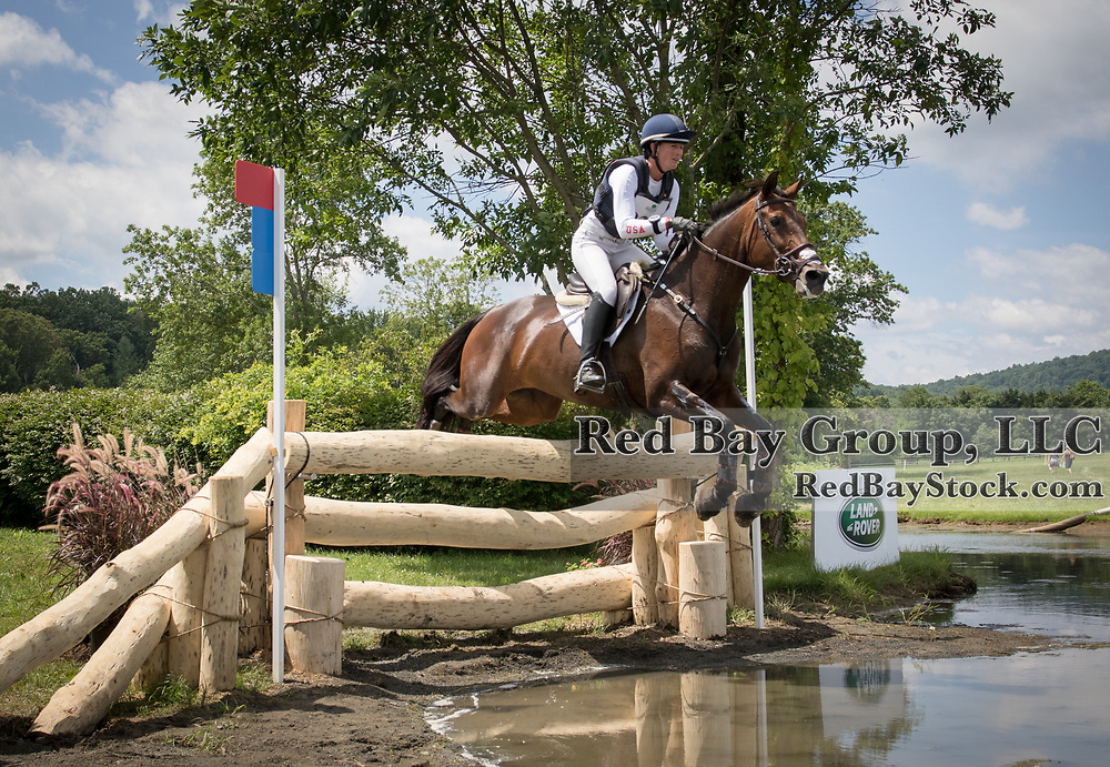 Lauren Kieffer riding Veronica competes in the Cross Country phase of the 2016 Land Rover Great Meadow International on Sunday, July 10, 2016, at the Great Meadow Foundation in The Plains, VA.