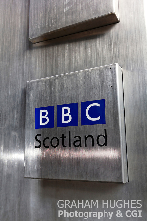 BBC TV Scotland Door Plate
