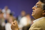 Professor Rakesh Vohra teaches a Managerial Economics class at the Allen Center as part of the Kellogg School of Management's Executive MBA Program on the Northwestern University Campus in Evanston, Illinois.