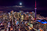 Downtown Toronto under Moonlight