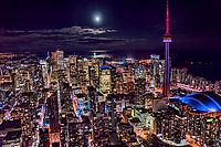 Downtown Toronto under Moonlight