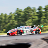 Alton, VA - Aug 26, 2016:  The Paul Miller Audi R8 LMS races through the turns at the Oak Tree Grand Prix at Virginia International Raceway in Alton, VA.