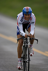 Ryan DeWald (RAP) during stage 1 of the Tour of Virginia.  The Tour of Virginia began with a 4.7 mile individual time trial near Natural Bridge, VA on April 24, 2007. Formerly known as the Tour of Shenandoah, the ToV has gained National Race Calendar (NRC) status for the first time in its five year history.