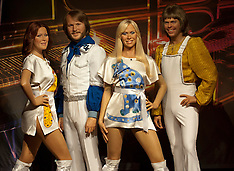 OCT 04 2012 New waxwork of pop group Abba