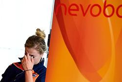 12-05-2014 NED: Persconferentie Nederlands vrouwen en mannen team, Arnhem<br /> Op papendal werden door beide bondcoaches en aanvoerders de plannen voor het nieuwe seizoen gepresenteerd / Maret Grothues