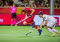 ANTWERPEN - Nicolas de Kerpel (Belgie)   tijdens finale mannen  Belgie-Spanje-,  bij het Europees kampioenschap hockey.  COPYRIGHT KOEN SUYK
