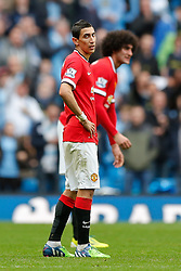 Angel Di Maria of Manchester United looks dejected after Manchester City win 1-0 - Photo mandatory by-line: Rogan Thomson/JMP - 07966 386802 - 02/11/2014 - SPORT - FOOTBALL - Manchester, England - Etihad Stadium - Manchester City v Manchester United - Barclays Premier League.