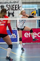 21-04-2019 NED: VC Sneek - Sliedrecht Sport, Sneek<br /> Final Round 2 of 5 Eredivisie volleyball - Sliedrecht Sport win 3-0 / Janieke Popma #2 of VC Sneek