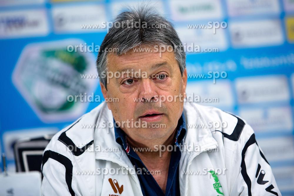 Milorad Kosanovic, head coach, at press conference of NK Olimpije before second part of Slovenian league on February 28, 2014 in SRC Stozice, Ljubljana, Slovenia. Photo by Matic Klansek Velej / Sportida