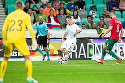 Benjamin Verbic of Slovenia during football match between National teams of Slovenia and Bulgaria in Group stage of UEFA Nationals League, on September 6, 2018 in SRC Stozice, Ljubljana, Slovenia. Photo by Urban Urbanc / Sportida