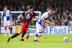 Tom Lockyer of Bristol Rovers is closed down by Richard Smallwood of Blackburn Rovers - Mandatory by-line: Dougie Allward/JMP - 14/04/2018 - FOOTBALL - Memorial Stadium - Bristol, England - Bristol Rovers v Blackburn Rovers - Sky Bet League One