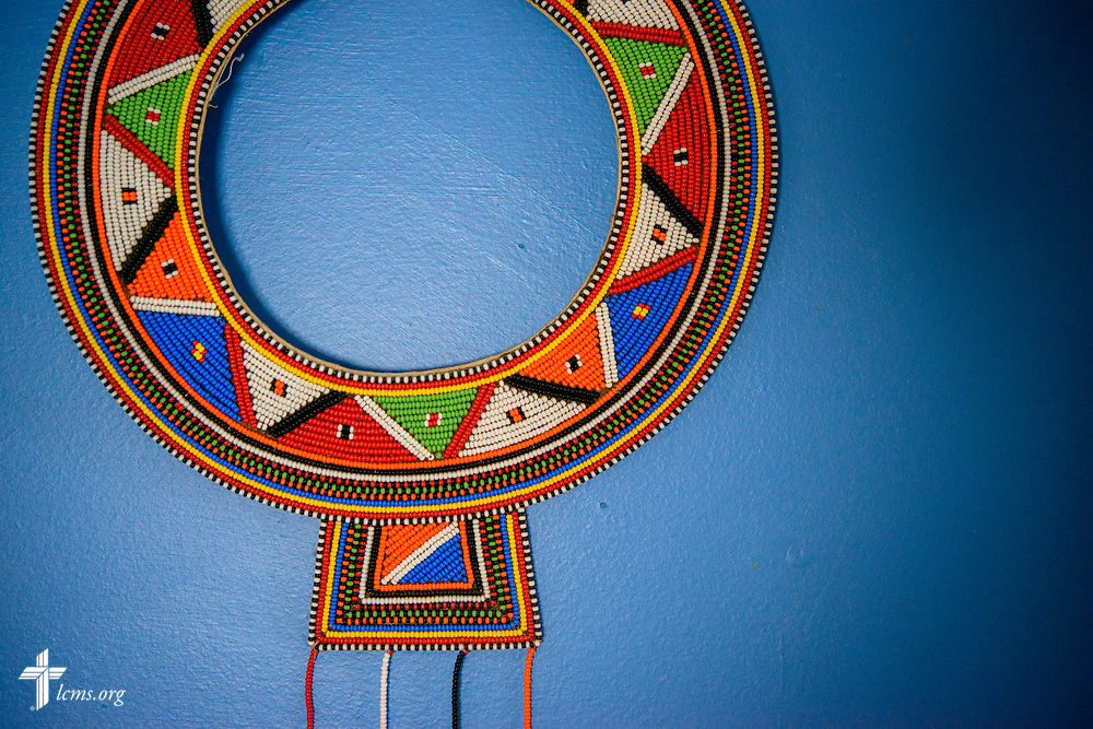 An East African indigenous necklace at the home of Deaconess Sandra Rhein on Friday, Feb. 2, 2018, in South Bend, Ind. LCMS Communications/Erik M. Lunsford