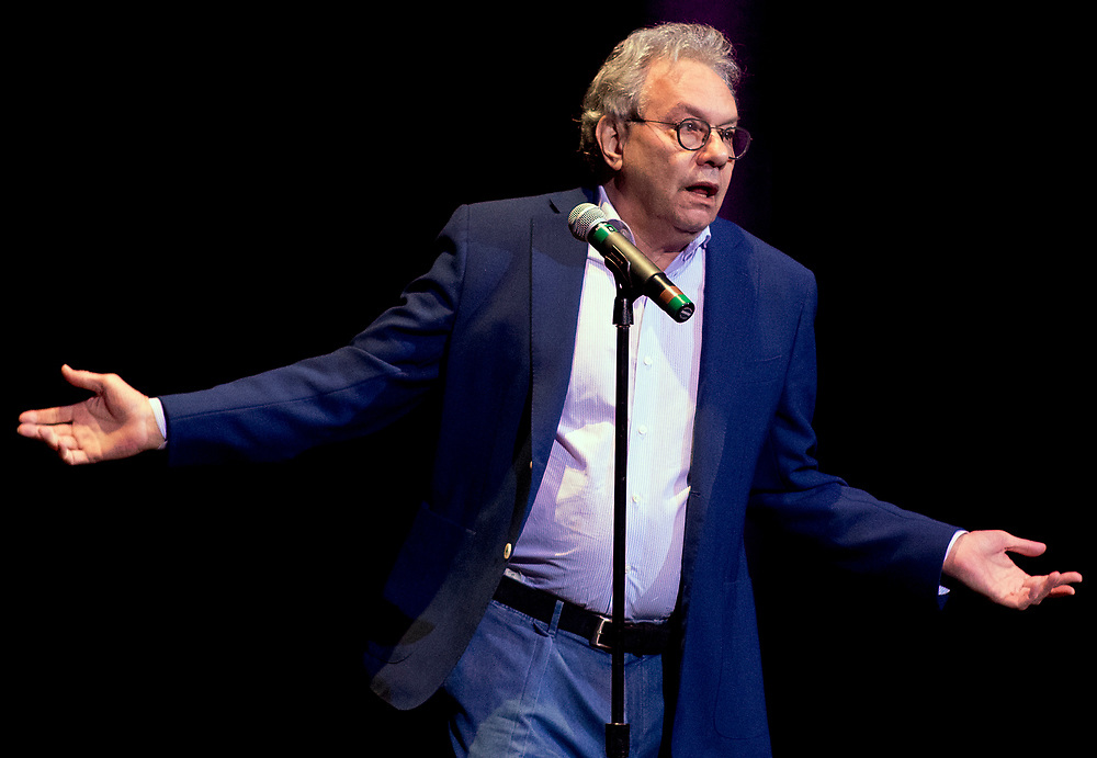 Comedian Lewis Black performs at the Hanover Theatre for the Performing Arts, Friday, Oct. 13, 2017.