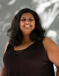 """Edinburgh, Scotland, UK; 16 August, 2018. Pictured; Chitra Nagarajan, editor of """"She Called Me Woman"""" a groundbreaking collection of stories about life in Africa a a queer woman."""