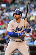 PHOENIX, AZ - JUNE 14:  Adrian Gonzalez #23 of the Los Angeles Dodgers reacts at bat in the first inning against the Arizona Diamondbacks at Chase Field on June 14, 2016 in Phoenix, Arizona. Los Angeles Dodgers won 7-4.  (Photo by Jennifer Stewart/Getty Images)