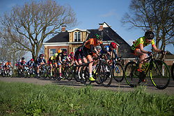 Riejanne Markus (NED) of Team NL stays near the front of the main peloton in the third lap of Stage 1b of the Healthy Ageing Tour - a 77.6 km road race, starting and finishing in Grijpskerk on April 5, 2017, in Groeningen, Netherlands.