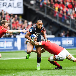 Gael Fickou of France during the RBS Six Nations match between France and Wales at Stade de France on March 18, 2017 in Paris, France. (Photo by Anthony Dibon/Icon Sport)