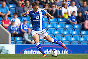 Chesterfield striker Kristian Dennis (20) controls the ball during the EFL Sky Bet League 1 match between Chesterfield and Northampton Town at the Proact stadium, Chesterfield, England on 17 September 2016. Photo by Aaron  Lupton.
