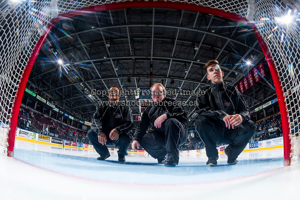 KELOWNA, CANADA - MARCH 31: Ice crew on March 31, 2017 at Prospera Place in Kelowna, British Columbia, Canada.  (Photo by Marissa Baecker/Shoot the Breeze)  *** Local Caption ***