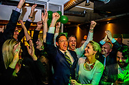 ROTTERDAM - Joost Eerdmans van Leefbaar Rotterdam tijdens de uitslagenavond van de gemeenteraadsverkiezingen. ANP ROBIN UTRECHT