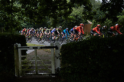 Alexandra Manly (AUS) in the bunch during Stage 1 of 2019 OVO Women's Tour, a 157.6 km road race from Beccles to Stowmarket, United Kingdom on June 10, 2019. Photo by Sean Robinson/velofocus.com