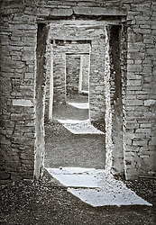 Doorways in Pueblo Bonito, Chaco Culture National Historic Park,  New Mexico, United States