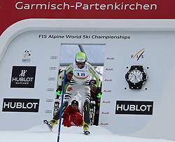 19.02.2011, Gudiberg, Garmisch Partenkirchen, GER, FIS Alpin Ski WM 2011, GAP, Damen, Slalom, im Bild Fanny Chmelar (GER) // Fanny Chmelar (GER) during Ladie's Slalom Fis Alpine Ski World Championships in Garmisch Partenkirchen, Germany on 19/2/2011. EXPA Pictures © 2011, PhotoCredit: EXPA/ M. Gunn