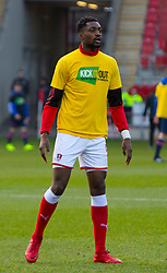 Semi Ajayi of Rotherham United wears a 'Kick It Out' t-shirt during training - Mandatory by-line: Ryan Crockett/JMP - 20/01/2018 - FOOTBALL - Aesseal New York Stadium - Rotherham, England - Rotherham United v Portsmouth - Sky Bet League One