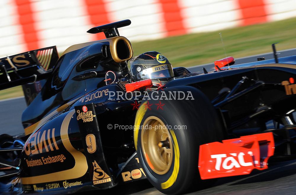 18.02.2011, Circuit de Catalunya, Barcelona, ESP, Formel 1 Test 3 2011,  im Bild Nick Heidfeld (GER) Lotus Renault GP EXPA Pictures © 2011, PhotoCredit: EXPA/ nph/  Dieter Mathis       ****** out of GER / SWE / CRO  / BEL ******