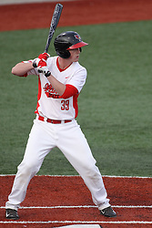 21 April 2015:  Danny Jackson during an NCAA Inter-Division Baseball game between the Illinois Wesleyan Titans and the Illinois State Redbirds in Duffy Bass Field, Normal IL
