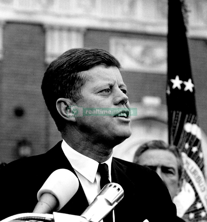John F. Kennedy, the nation's 35th President, would have turned 100 years old on May 29, 2017. With the centennial anniversary of John F. Kennedy's birth, the former president's legacy is being celebrated across the nation. PICTURED: 1961; Washington, DC, USA; Exact Date unknown. President JOHN F. KENNEDY giving a speech..  (Credit Image: JFK Collection/JOHN F. KENNEDY LIBRARY/ZUMAPRESS.com)