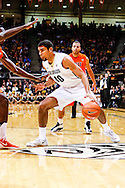 January 2nd, 2014:  Colorado Buffaloes sophomore forward Josh Scott (40) dribbles the basketball in the first half of action in the NCAA Basketball game between the Oregon State Beavers and the University of Colorado Buffaloes at the Coors Events Center in Boulder, Colorado